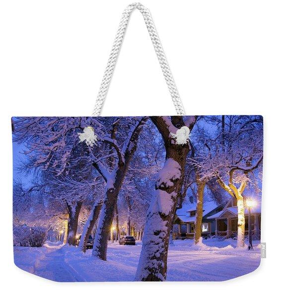 Snow On Warren St. Weekender Tote Bag