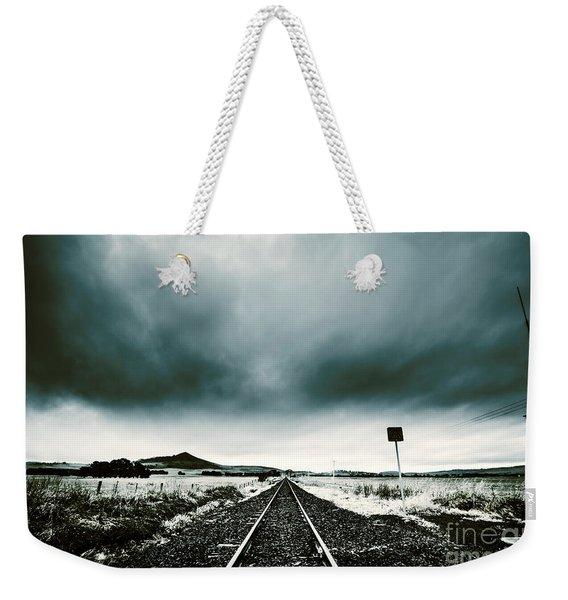 Snow Railway Weekender Tote Bag