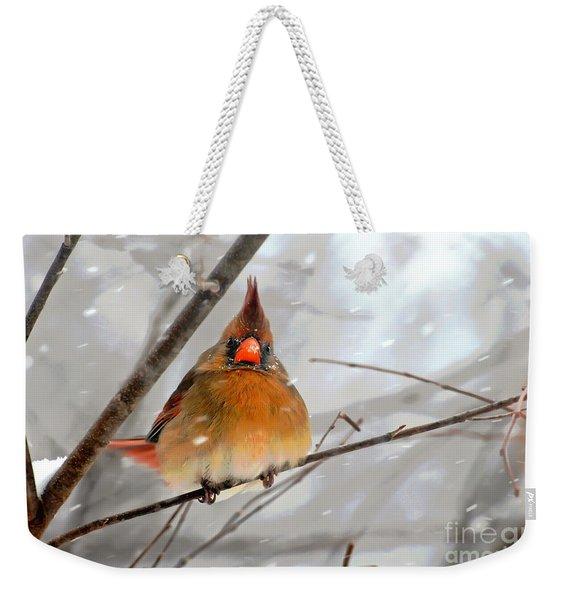Snow Surprise Weekender Tote Bag