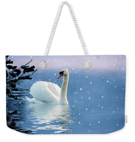 Snow Swan Swim Weekender Tote Bag