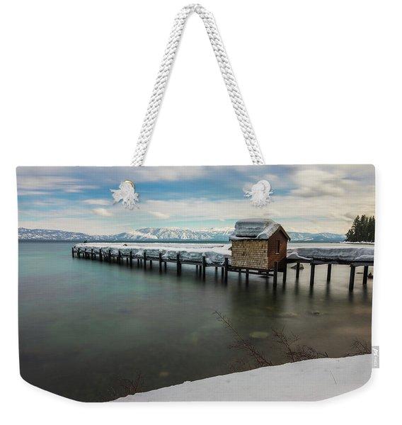 Snow White Pier Weekender Tote Bag