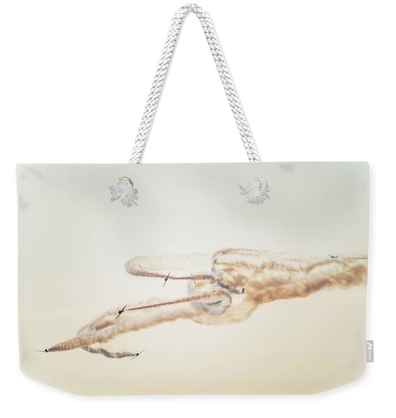 Snowbirds Over English Bay Weekender Tote Bag