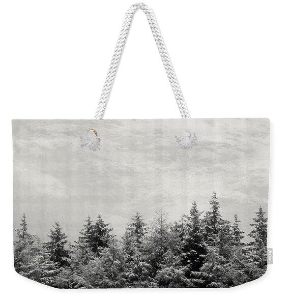 Snowcapped Firs Weekender Tote Bag