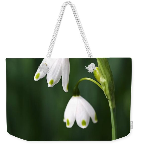 Snowdrops Painted Finger Nails Weekender Tote Bag