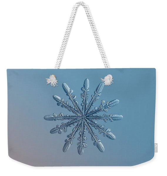 Snowflake Photo - Chrome Weekender Tote Bag