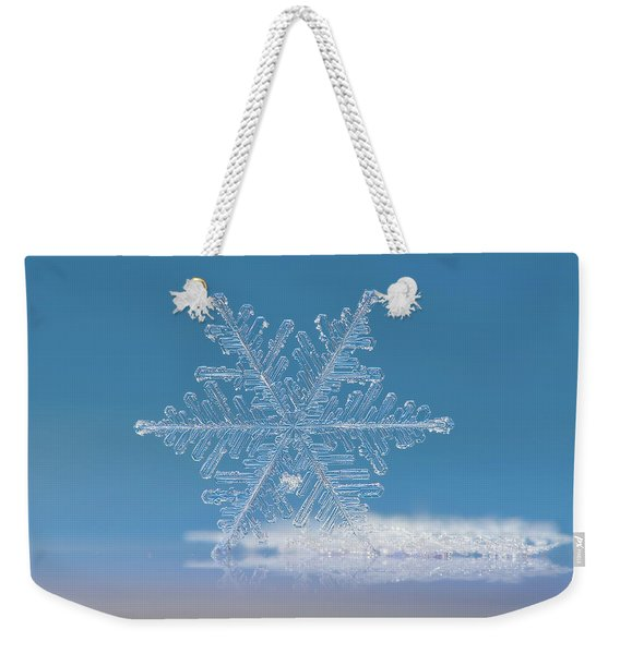 Snowflake Photo - Cloud Number Nine Weekender Tote Bag