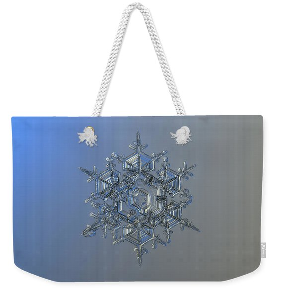 Snowflake Photo - Crystal Of Chaos And Order Weekender Tote Bag