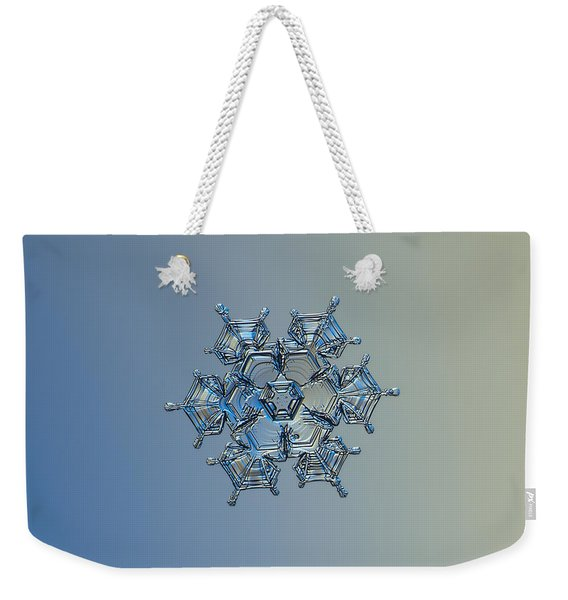 Snowflake Photo - Flying Castle Alternate Weekender Tote Bag