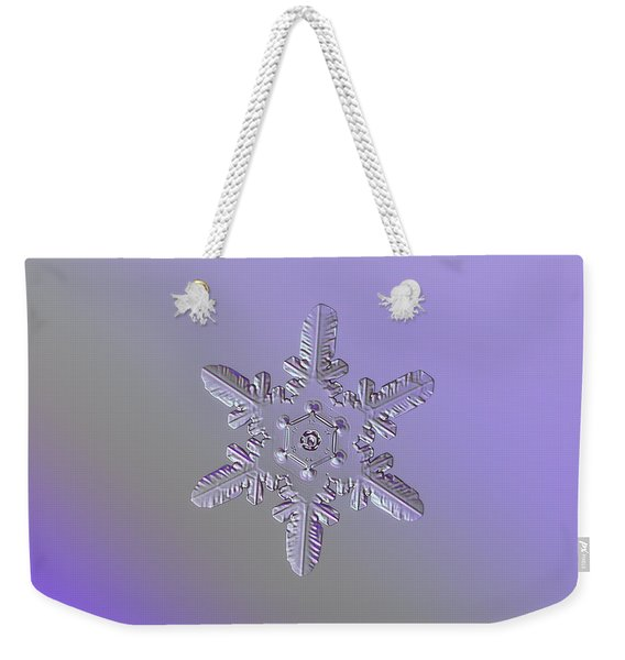 Snowflake Photo - Heart-powered Star Weekender Tote Bag