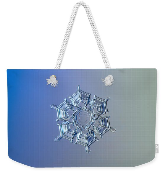 Snowflake Photo - Ice Relief Weekender Tote Bag
