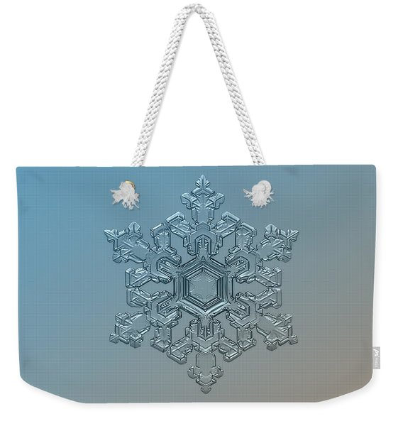 Snowflake Photo - Ornate Pattern Weekender Tote Bag