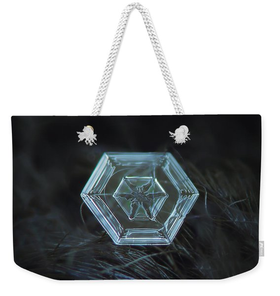 Snowflake Photo - Radiant Green Weekender Tote Bag