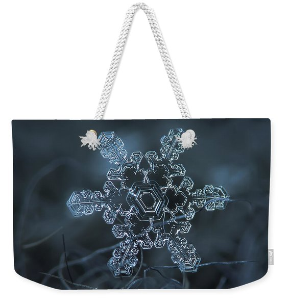 Snowflake Photo - Slight Asymmetry Weekender Tote Bag