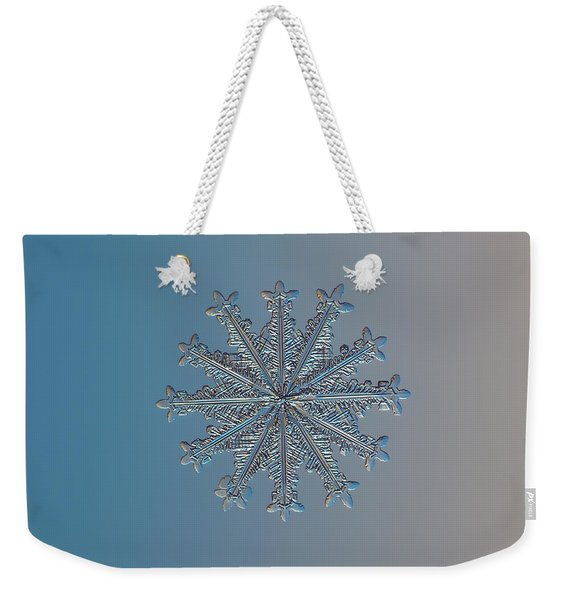 Snowflake Photo - Wheel Of Time Weekender Tote Bag