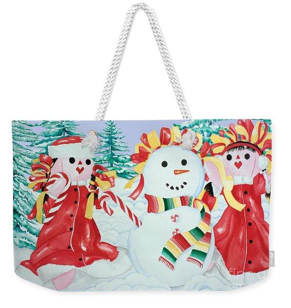 Snowgirls With Serape Scarf Weekender Tote Bag