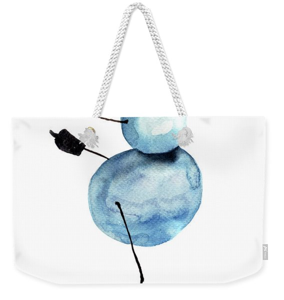 Snowman Ice Skating Cartoon Weekender Tote Bag