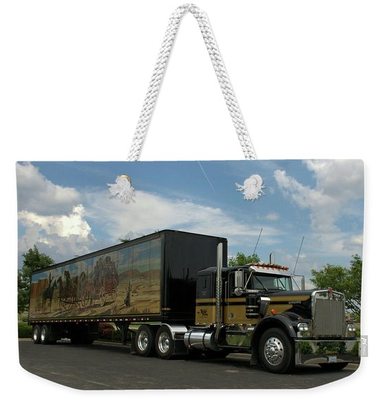 Snowmans Dream Replica Semi Trruck Weekender Tote Bag