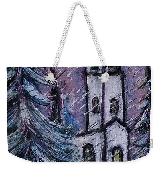 Snowscape Weekender Tote Bag