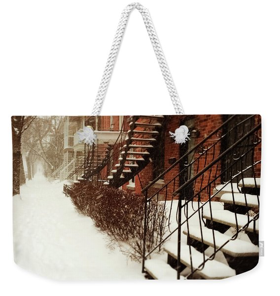Snowstorm In Montreal Weekender Tote Bag