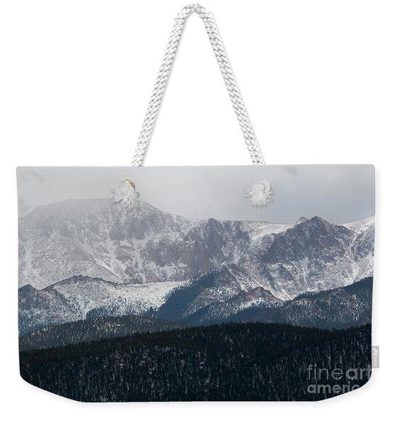 Snowstorm On Pikes Peak Weekender Tote Bag