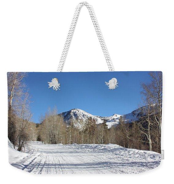 Snowy Aspen Weekender Tote Bag