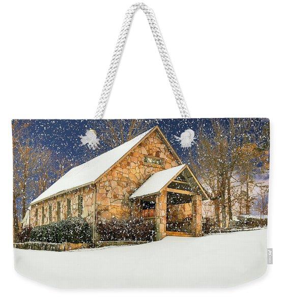Snowy Cloudland Presbyterian Church  Weekender Tote Bag