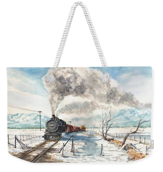 Snowy Crossing Weekender Tote Bag