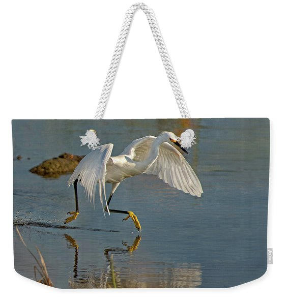 Snowy Egret On The Move Weekender Tote Bag