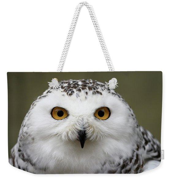 Snowy Eyes Weekender Tote Bag
