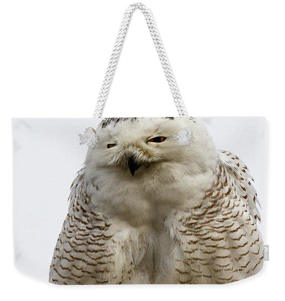 Snowy Impersonates Yoda Weekender Tote Bag
