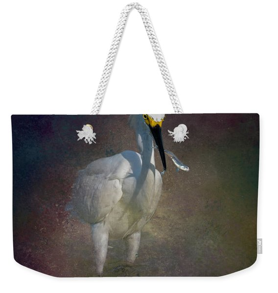 Snowy Lunch Weekender Tote Bag