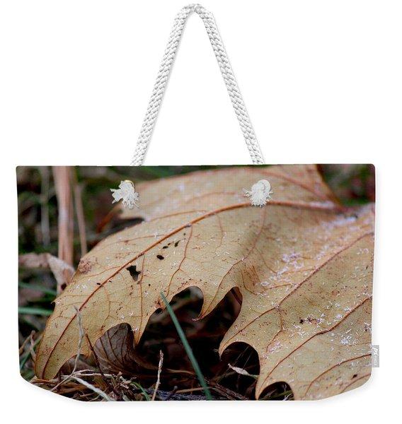 Snowy Maple Weekender Tote Bag