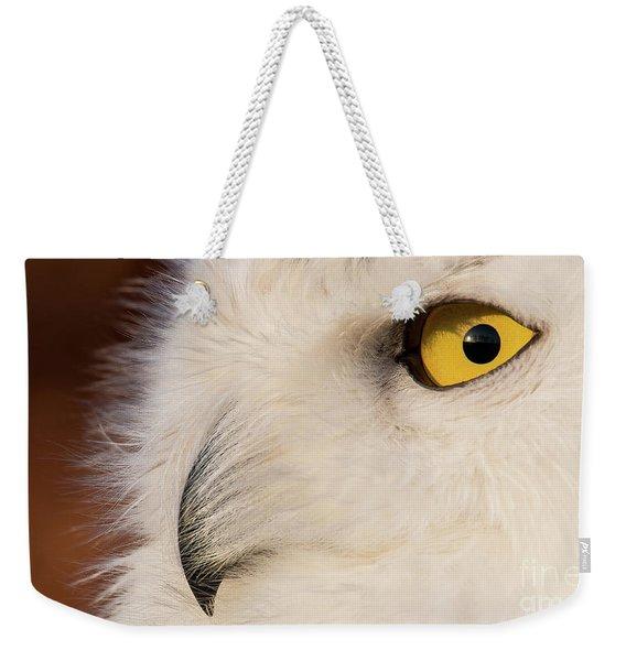 Snowy Owl Portrait Weekender Tote Bag