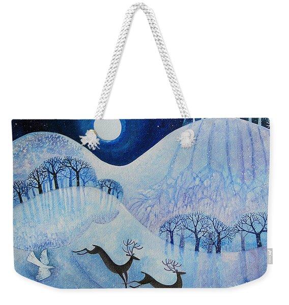 Snowy Peace Weekender Tote Bag