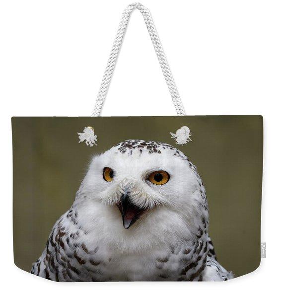 Snowy Sings Weekender Tote Bag