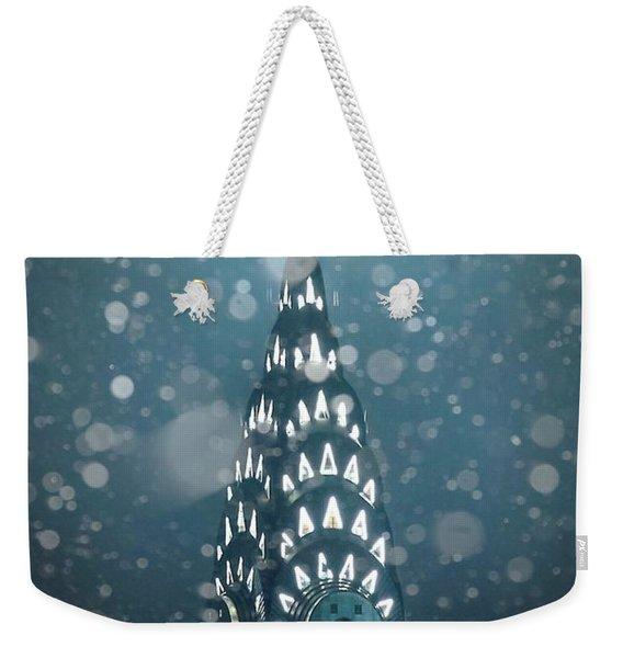 Snowy Spires Weekender Tote Bag