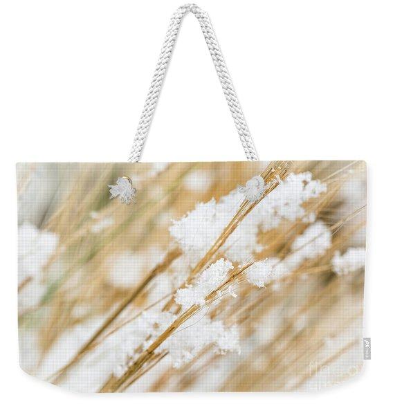 Snowy Weed Weekender Tote Bag