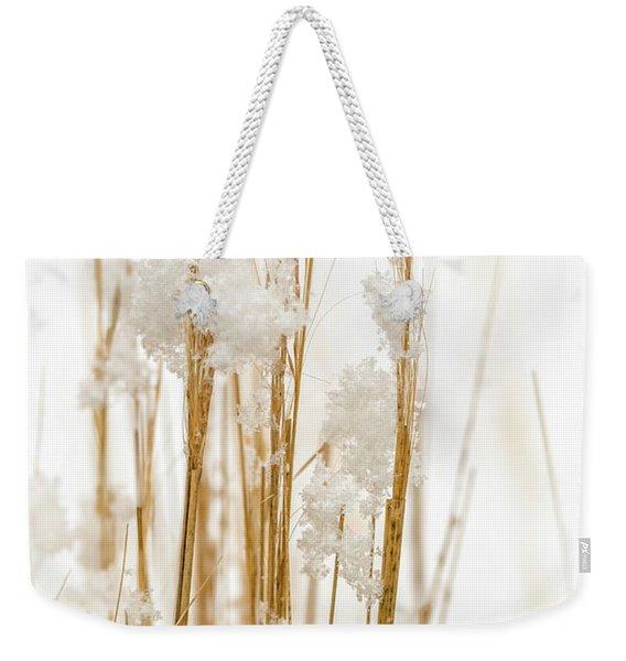 Snowy Weed - Vertical Weekender Tote Bag