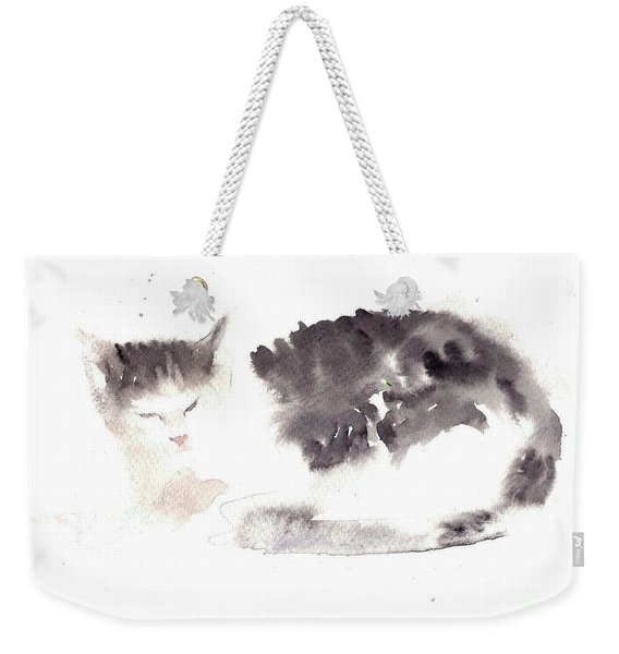 Snuggling Cat Weekender Tote Bag