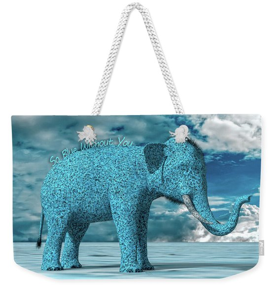 So Blue Without You Weekender Tote Bag