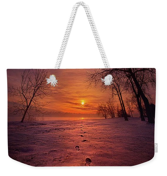 So Close No Matter How Far Weekender Tote Bag