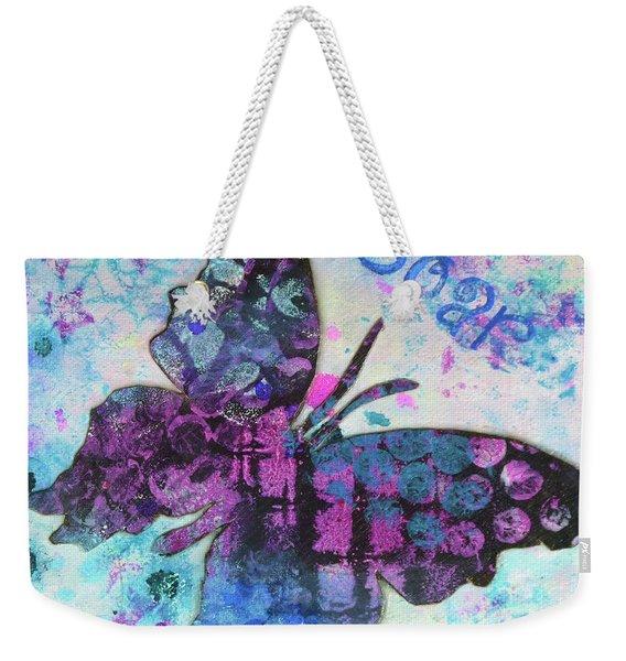 Soar Butterfly Weekender Tote Bag