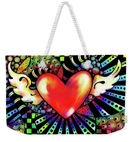 Soaring Heart Coloration Weekender Tote Bag