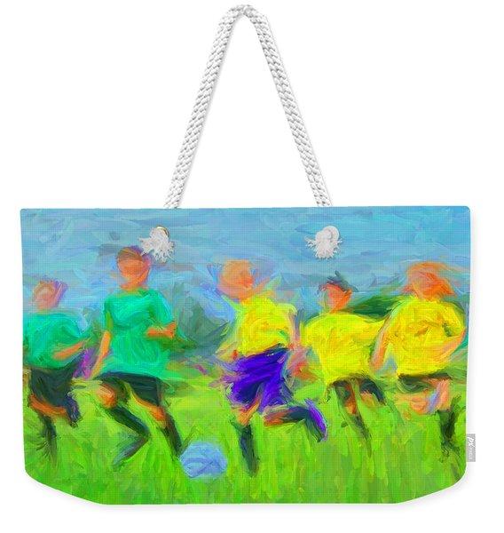 Soccer 3 Weekender Tote Bag