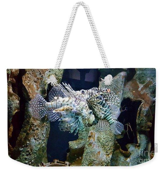 Socializing Fish Weekender Tote Bag
