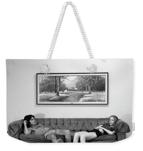 Sofa-sized Picture, With Light Switch, 1973 Weekender Tote Bag