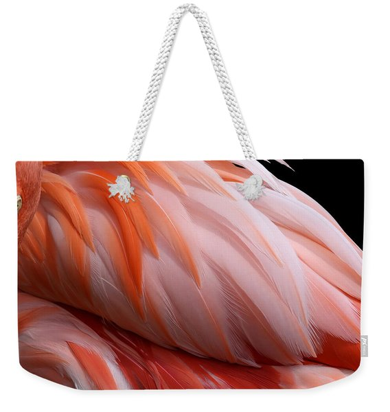 Soft And Delicate Flamingo Feathers Weekender Tote Bag