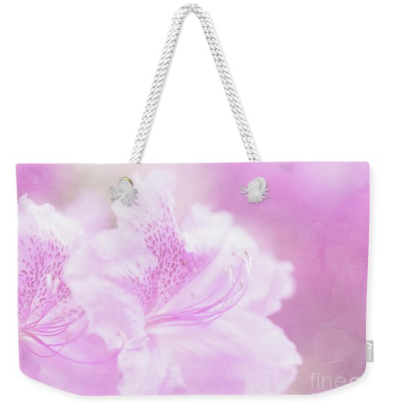 Soft And Lovely Pink Rhododendrons  Weekender Tote Bag