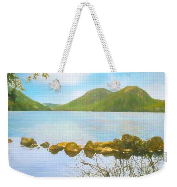 Soft Art Photograph Jordan Pond Acadia Nat. Park Maine Weekender Tote Bag