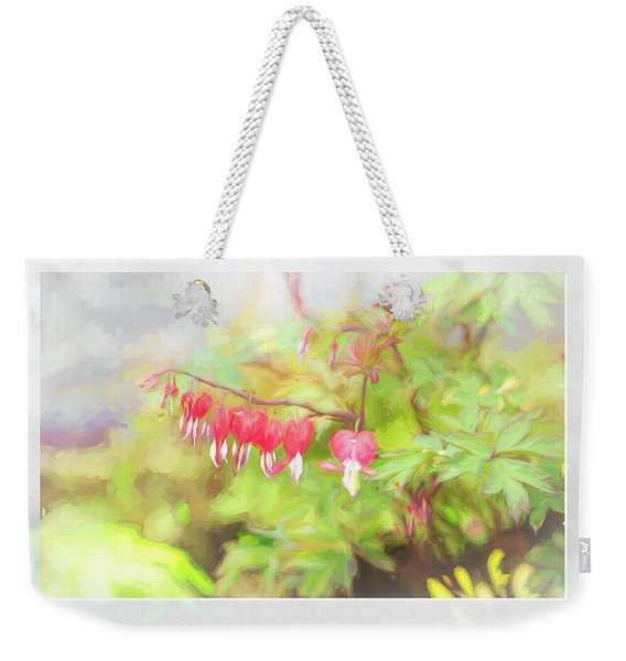Soft Bleeding Hearts Weekender Tote Bag